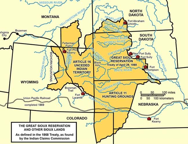 June 13, 1979 The Sioux Indians were awarded 105 million dollars in compensation for the U.S. seizure in 1877 of their Black Hills in South Dakota.