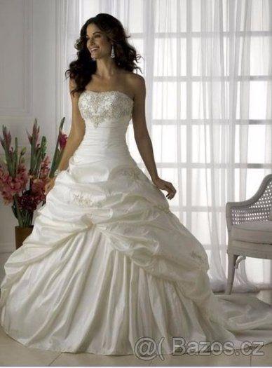 Bílé svatební šaty-nové - 1