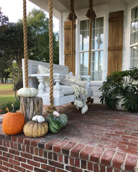 Cindimc Ivoryhome On Instagram Fall Front Porch Swing I
