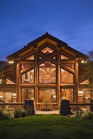 Log cabin log cabins pinterest design house windows for Log cabin dream homes