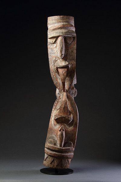 Papuan New Guinea Kambot Keram River Janus Headed Figural Wooden House Post : The British Antique Dealers' Association