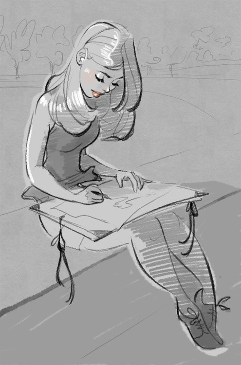729 best images about dibujos de chicas on pinterest for How to draw a girl looking down