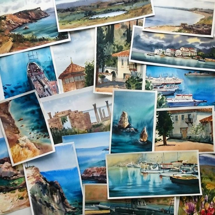 Crimea plein air, watercolor, paper
