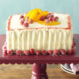 Cranberry Cake with Tangerine Frosting Recipe from Taste of Home -- shared by Sandy Gaulitz of Spring, Texas