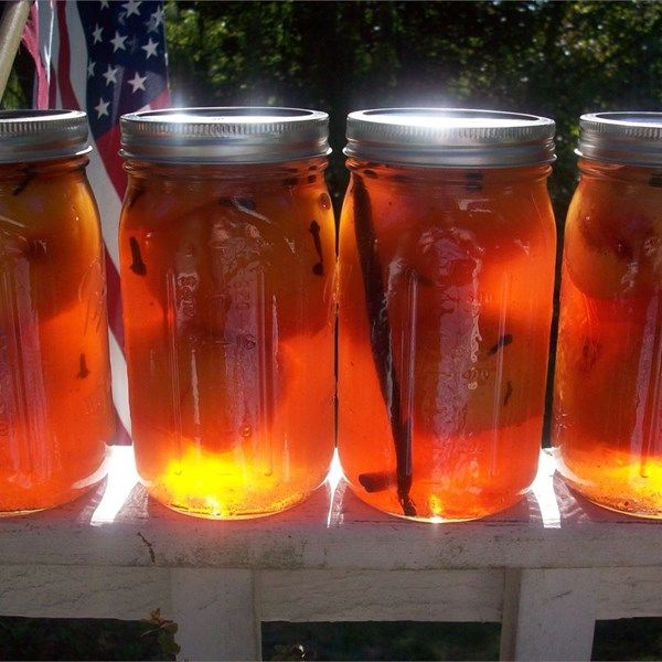"Pickled Peaches | ""Very yummy! This reminds me of my mother, she always loved peaches and found ways to use them, picked peaches were her favorite!"""