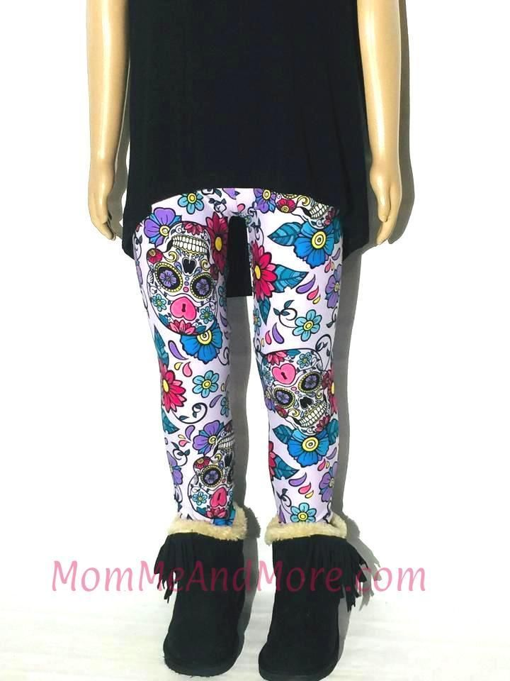 158906c7c11e9 Girls Kids Leggings | Sugar Skull Print Leggings | Mommy & Me Leggings –  MomMe and More