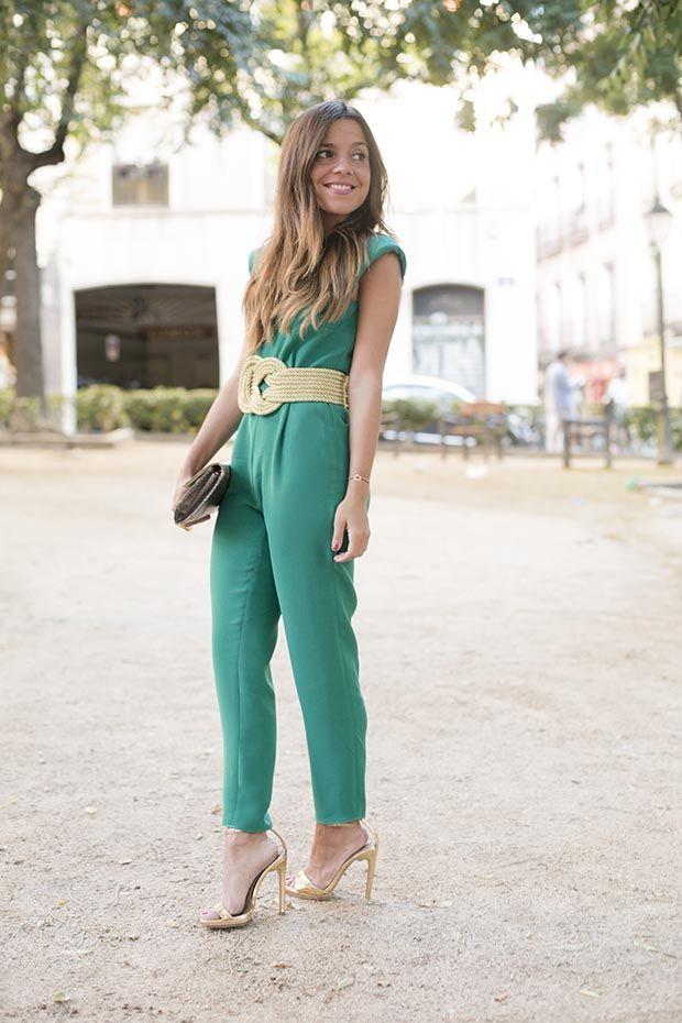 Green jumpsuit & Giveaway   PEEPTOES