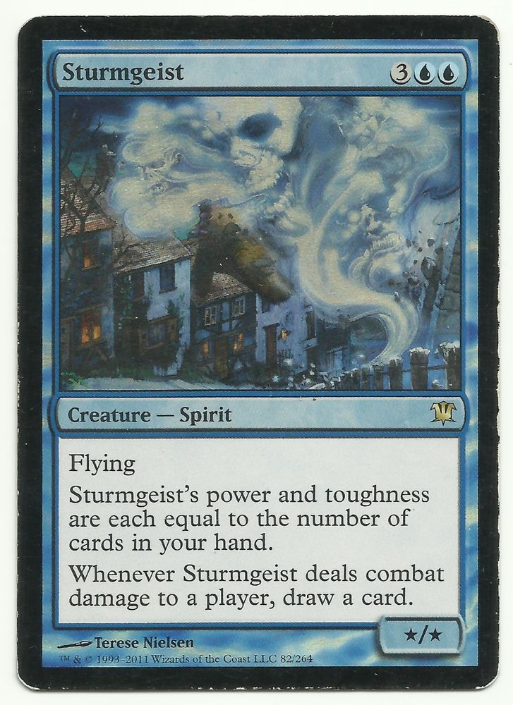 Sturmgeist Foil x1 MTG Innistrad Blue Flying Spirit Creature Rare Magic Card EDH #WizardsoftheCoast