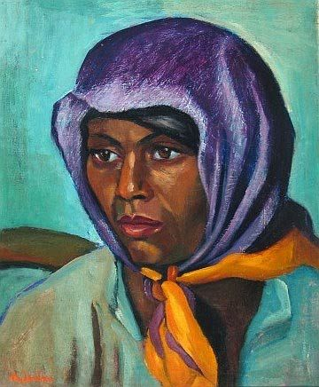 Coloured Woman with Headscarf, Maggie Laubser