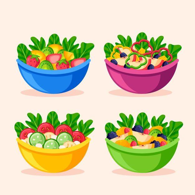 Download Fruit And Salad Bowls For Free Salad Bowls Food Clipart Food Props