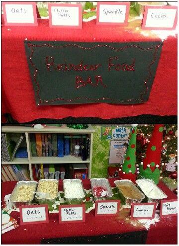 Reindeer Food Bar For School Party Christmas Pinterest