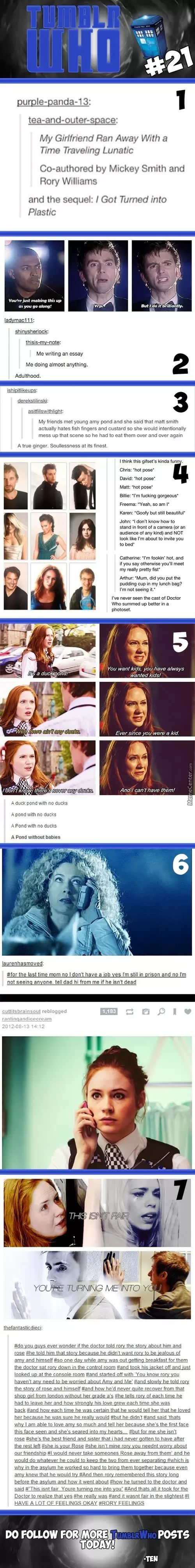 Yeah, ok except the lady one because (and I'm going to speak clearly here so I don't stutter) THE DOCTOR WAS NEVER EVER EVER EVER IN LOVE WITH ROSE. Ok?