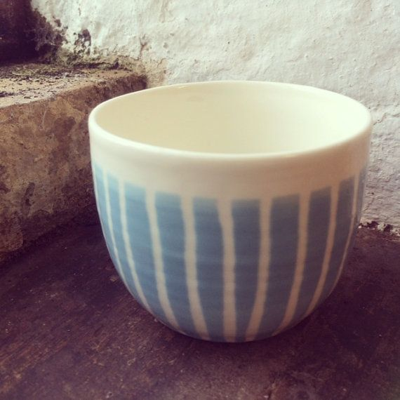 Blue and White Porcelain Sugar Bowl by SuzeKing on Etsy
