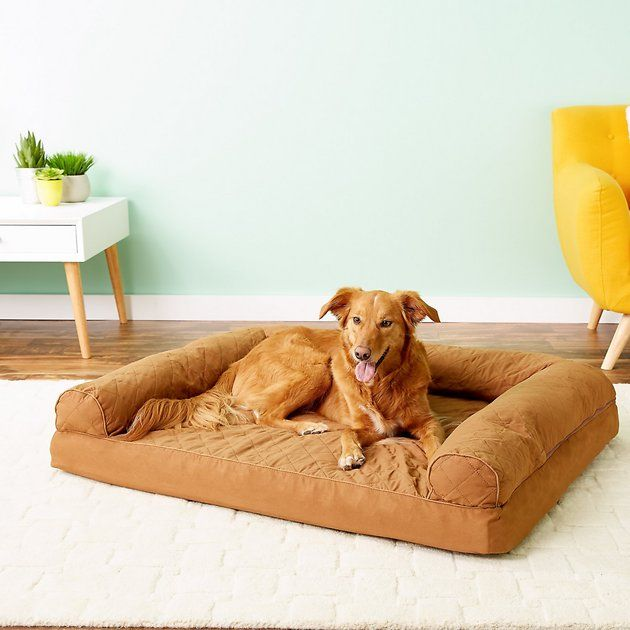 Furhaven Quilted Orthopedic Sofa Cat Dog Bed W Removable Cover Navy Medium Chewy Com Dog Bed Stylish Dog Beds Dog Sofa