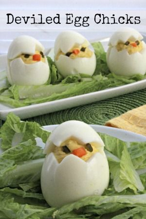 How to Make Deviled Egg Chicks
