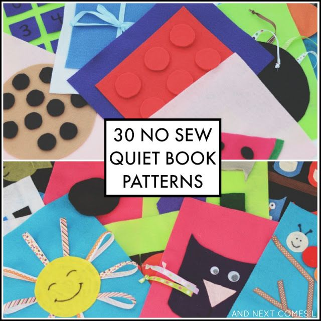 30 easy no sew quiet book patterns from And Next Comes L