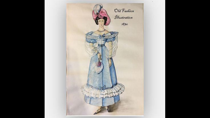 Old-style Fashion Illustration