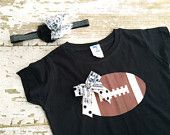 Oakland Raiders Shirt and Hairbow Set