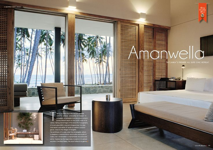 Amanwella Resort, Sri Lanka. Contemporary and peaceful beach resort. Cocotraie Issue 14.
