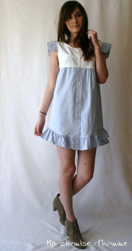 из рубашки платье