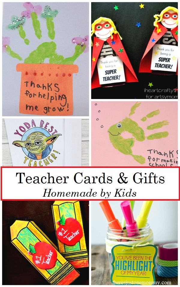 Homemade Teacher Cards Gifts With Images Teacher Cards