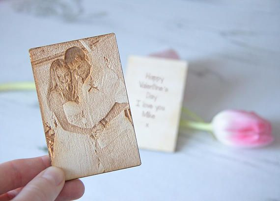 Unique Valentine's Gift for Her Photo Engraved Wallet