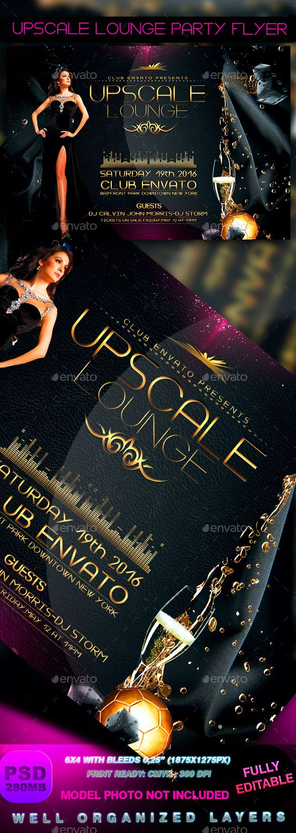 Upscale Lounge Party Flyer
