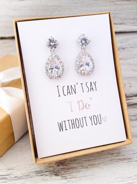 Bridesmaid Drop Earrings