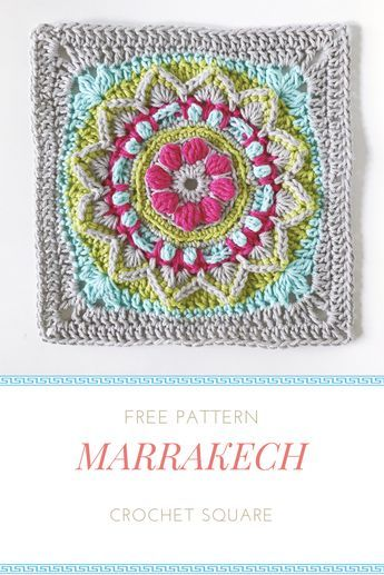 Free Crochet Granny Square Pattern From Mobiusgirldesign