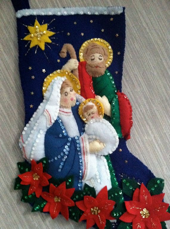 Nativity Completed Handmade Felt Christmas by GrandmasStitchings, $70.00