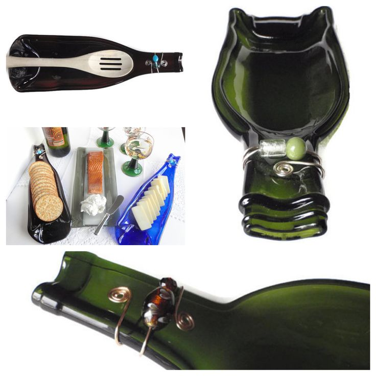 Melted Wine Bottle ~Melted wine bottles make a great #Host #Hostess and #Housewarming #Gift this holiday season by chalky. #meltedwinebottles