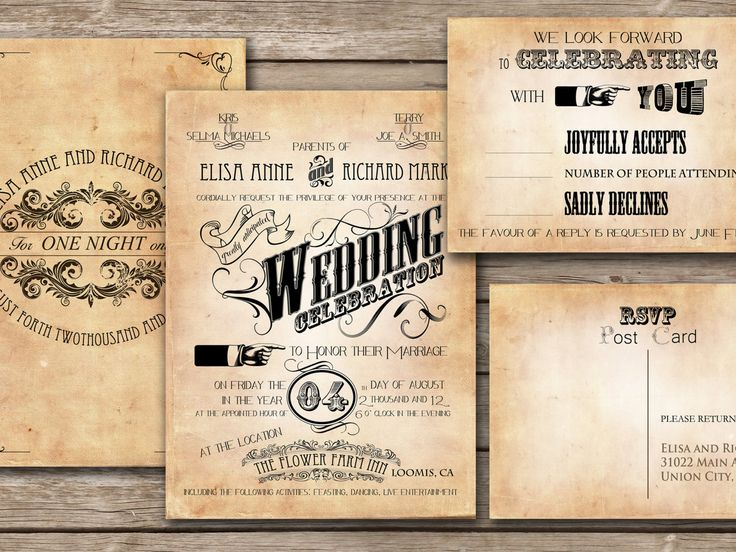 Best Retro Invitations Card Images On   Invitation