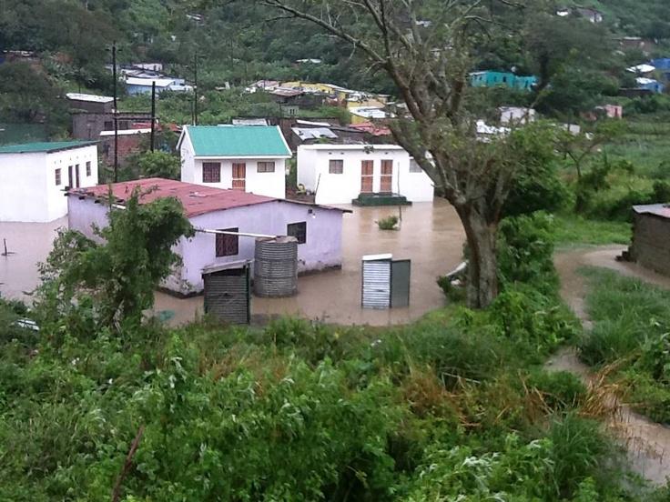Soweto, ECape Floods | Flooded houses in Port St Johns in the Eastern Cape. | Photo MEC Mlibo Qoboshiyane /eNCA