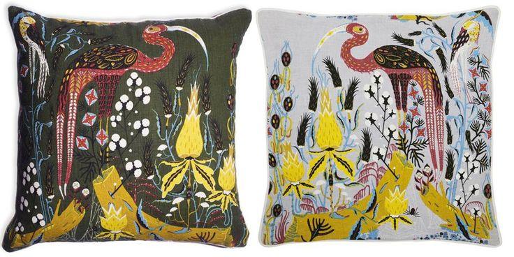 Klaus Haapniemi  Tiphaine-illustration  #finnishart #cushiondesign #birds