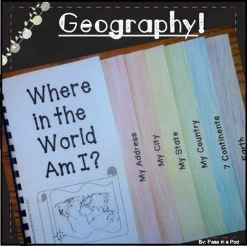 """Me on the Map! Map skills ~Differentiated!Me on the Map ~ Map Skills Geography Activity! (US)Creates a super cute 7 page """"Me on the Map"""" ~ map skills ~ geography book. This helps teach some of the most basic """"must know"""" geography!  I have included 2 versions: A guideline font with dotted words to trace AND a version for differentiation with just blank guidelines for more experienced writers.Step-by-step directions and pictures can be seen on my blog: Peasinapodlessons.comTo get started, I…"""