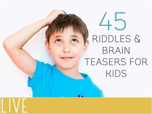 We're a little addicted to riddles in our home. 45 fun riddles and brain teasers to get the kids working their brains.