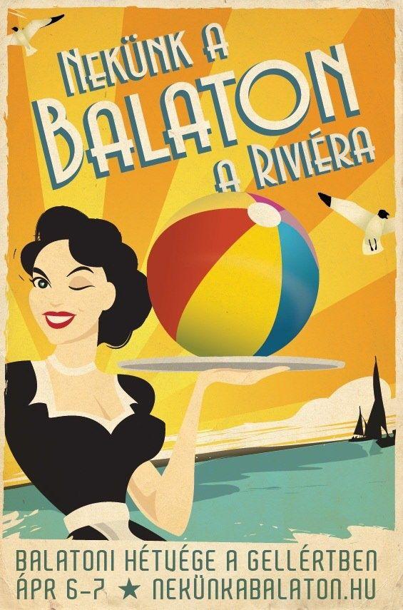 vintage Balaton, Hungary poster