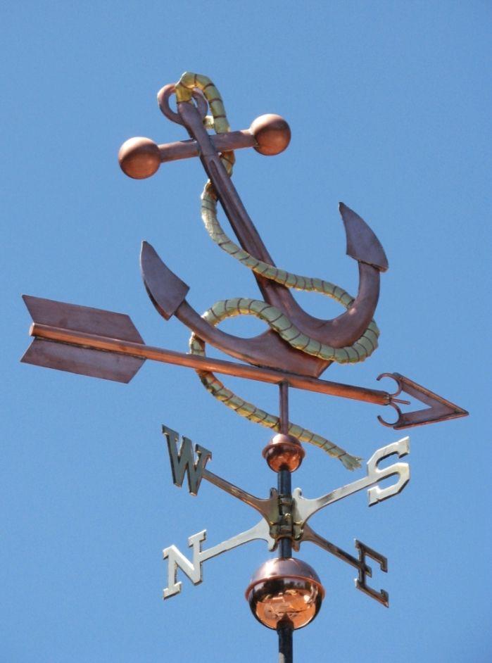 Anchor Weather Vane by West Coast Weathervanes.