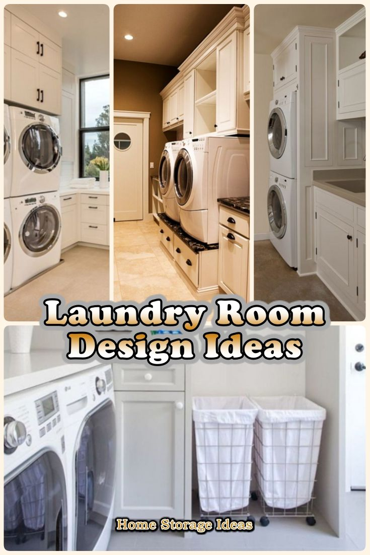 Top 8 Laundry Room Design Ideas For Tiny House Laundry Room Design Laundry Room Storage House Laundry room storage ideas