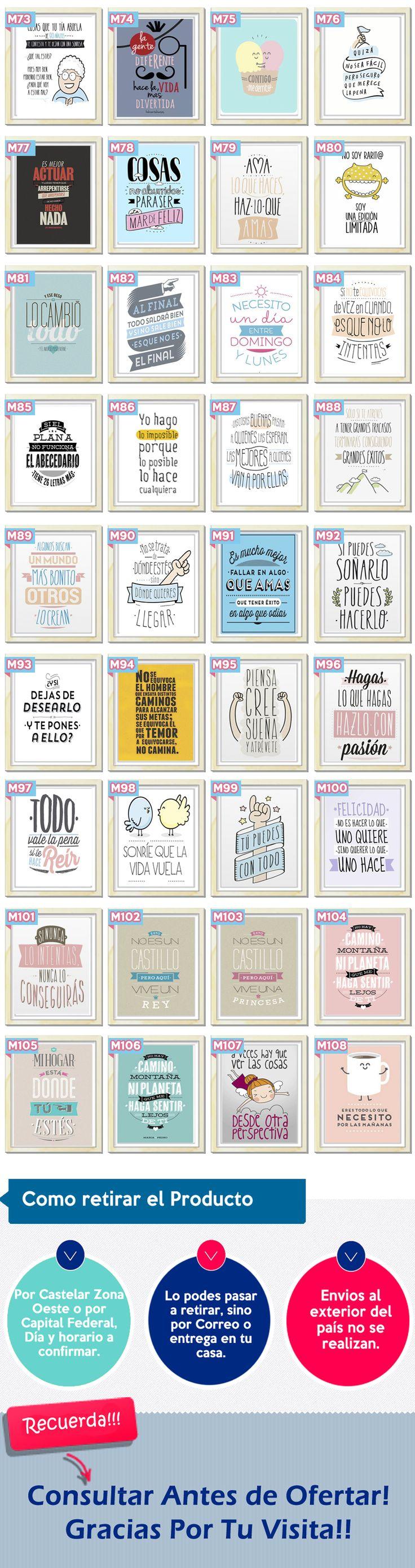 Cuadros Originales Modernos Personalizados Frases                                                                                                                                                     Más