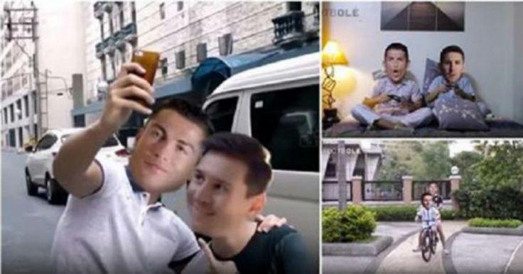Αν ο Ρονάλντο και ο Μέσι ήταν οι καλύτεροι φίλοι το αποτέλεσμα θα ήταν αυτό! (Βίντεο)