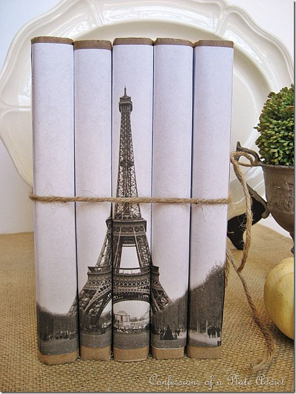 Eiffel Tower Book Set cover - I am such a sucker for French Prints!