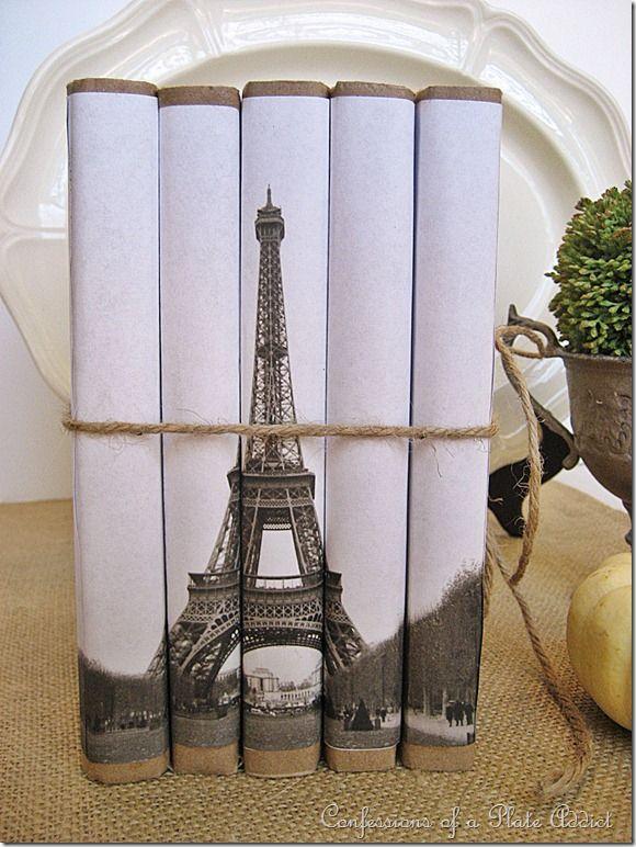 Bookcovers for Eiffel Tower Book Bundle DIY tutorial