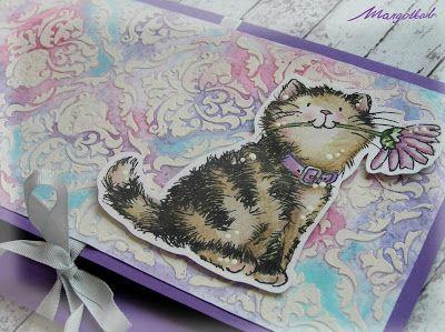 Dárková obálka, darovací obálka na peníze, poukázky nebo fotografie s kočičkou. Dívčí roztomilé přání s kočkou.