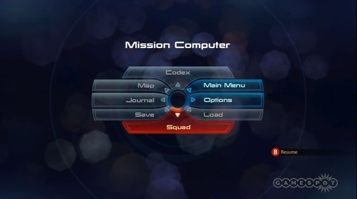 Mass effect main menu