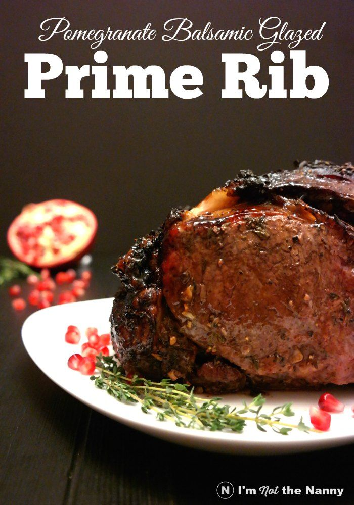 Slow roasted and moist, this prime rib is worth the time you put into it. Pomegranate Balsamic Glazed Prime Rib Roast recipe.