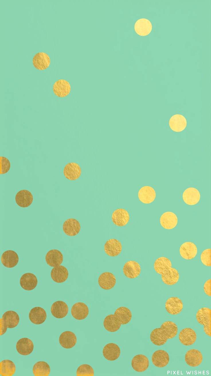 a Mint and Gold Confetti iPhone 6 wallpaper that I made to match my Kate Spade Phone Case <3  https://muddledink.wordpress.com/2015/03/29/a-few-fun-iphone-wallpapers/