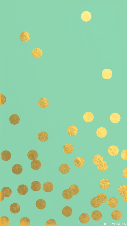 Fonds  d'écran  point  d'or  et fonds  en turquoises .