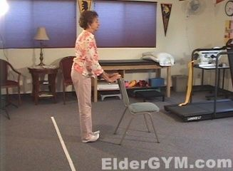 Ankle Stretches, Including The Heel Raise, Is An Excellent Standing  Exercise For Older Adults