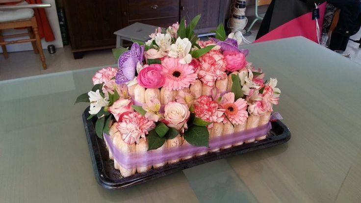 A l 39 occasion des 90 ans de ma grand m re avec ma s ur - Composition florale anniversaire ...